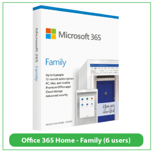 Office 365 Home Family 6 users